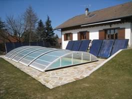 deux champs solaires de 15m2 syst me de vidange automatique drain back chauffage par. Black Bedroom Furniture Sets. Home Design Ideas
